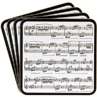 Making Music Easy Clean Heat Resistant Coasters Musical Notes